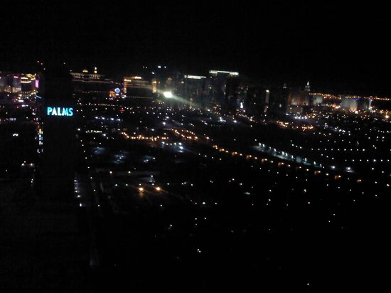 The Palms Casino Hotel: 52nd floor view of the south end of the strip