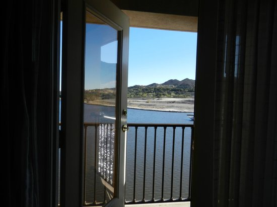Hilton Lake Las Vegas Resort & Spa:                   our balcony, not all rooms on the bridge have them