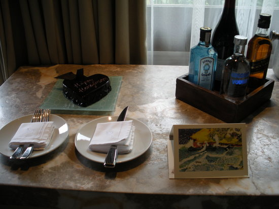Four Seasons Resort Seychelles: Welcome cake