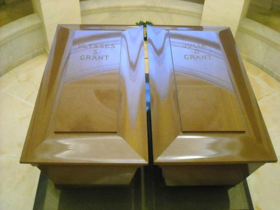 General Grant National Memorial:                   General and Mrs. Grant's coffins