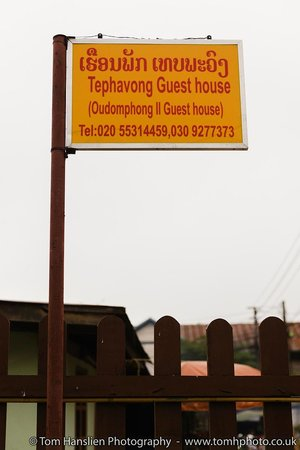 Oudomphong Guest House:                   Sign-post