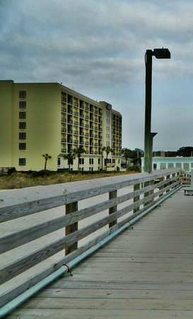 Surfside Beach Resort:                   Motel as seen from the Pier