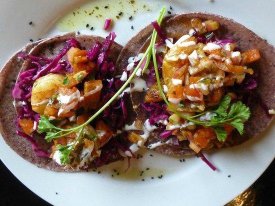 Nirvana Bistro & Bar:                   Shrimp Tacos