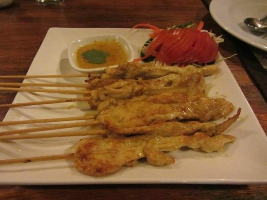 Frog and Catfish:                   Chicken Satay