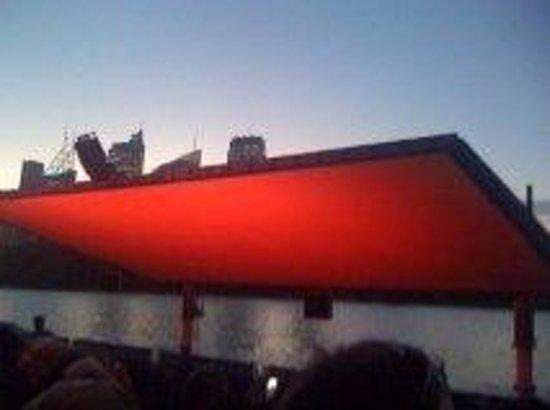 St George Openair Cinema:                                     Big Screen going up
