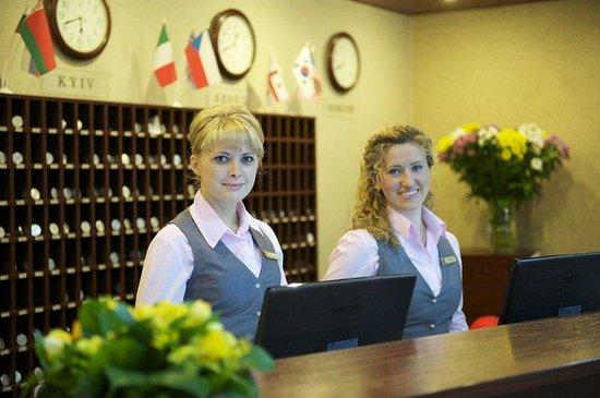 Slavutych Hotel: Reception