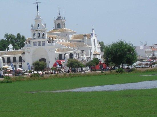 Vista De La Ermita Del Rocío Desde La Terraza Del