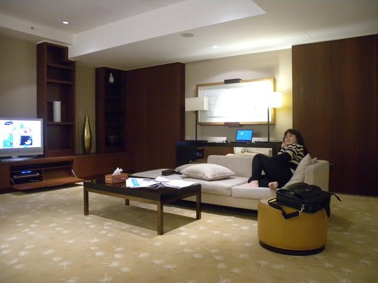 InterContinental Dubai Festival City: Living room in President Suite.