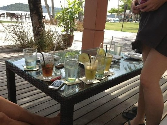 Casa del Mar, Langkawi:                   Lots of drinks and fresh juice - yummy