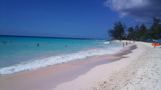 The wonderful Accra beach in Barbados