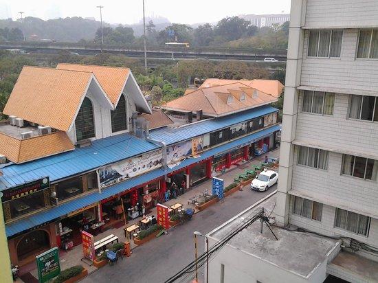 Xinghe Xiangjiang Hotel:                   Tampak restaurant  dari atas hotel