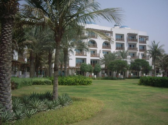 Park Hyatt Dubai: The green area behind the hotel