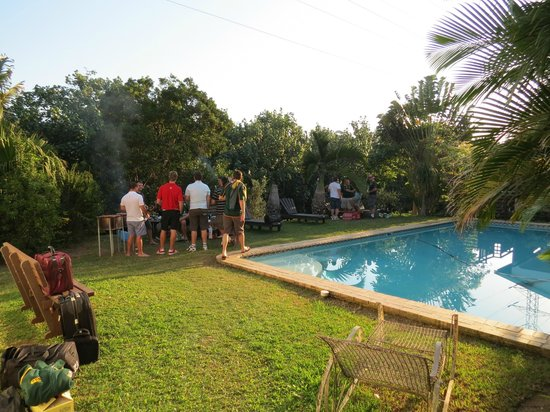 Dieu-Donnee River Lodge: Guests enjoyed a braai