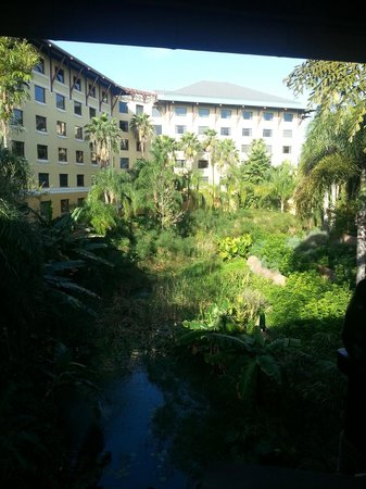 Loews Royal Pacific Resort at Universal Orlando:                   View from Reception Bridge