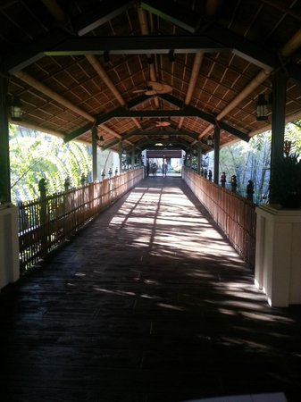 Loews Royal Pacific Resort at Universal Orlando:                   Walkway to Reception