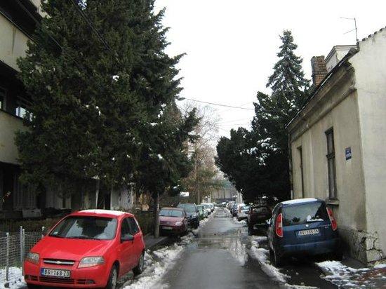 Vila Senjak Belgrade:                                     on the way to the hotel 1
