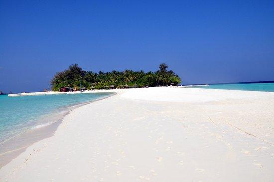 VOI Maayafushi Resort:                   il punto di forza... la lingua di sabbia