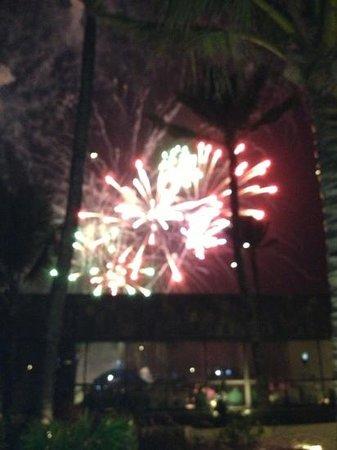 Long Beach Golf & Spa Resort: fireworks on 31/12/12