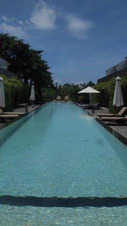 Kupu Kupu Jimbaran & Bamboo Spa by L'Occitane:                   Pool mit Liegen direkt vor den Zimmern