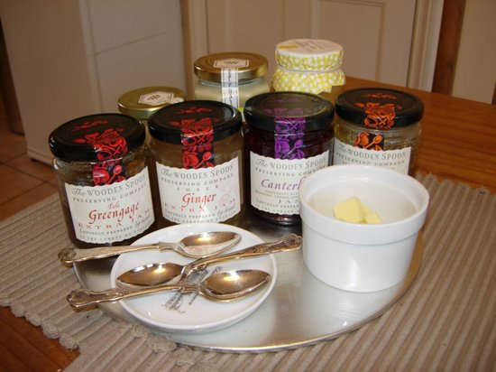 Beechborough B&B: The Wooden Spoon's selection of marmalades and jams