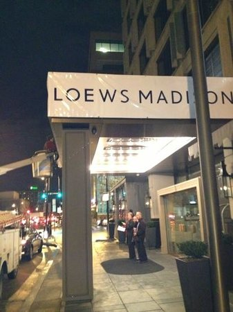 Loews Madison Hotel:                                     changing of the guard