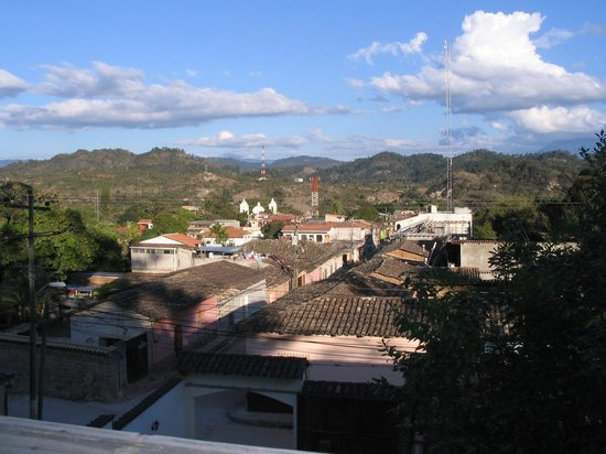 Hotel & Restaurant Guancascos: View of city and countryside from restaurant & bar.