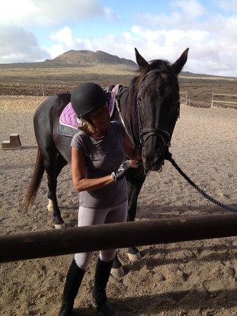 Fuerteventura, Spanien:                   io e Indy