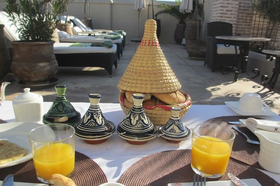 Riad Camilia:                   Roof top breakfast