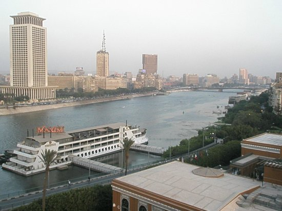Cairo Marriott Hotel & Omar Khayyam Casino:                   view from room