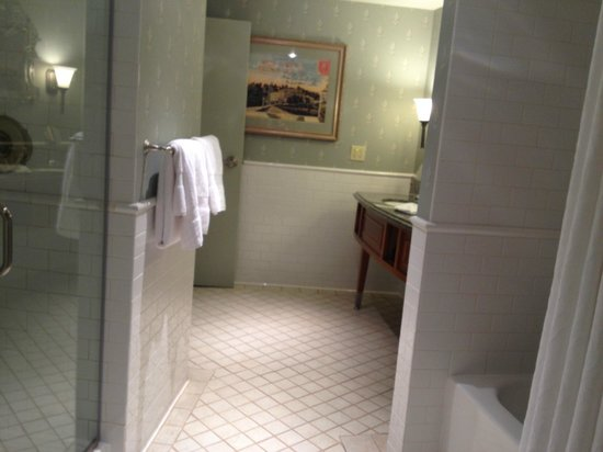 West Baden Springs Hotel:                   Separate shower and bath