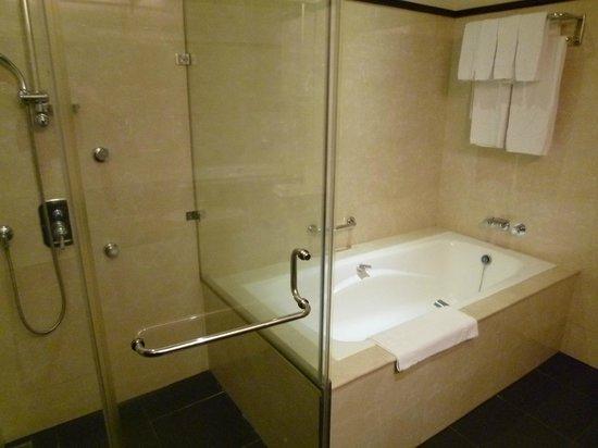 Taipei International Hotel:                   シャワーとバスタブが別です