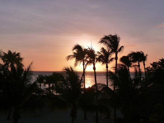 Marriott's Aruba Surf Club:                   Room View from the sunset!