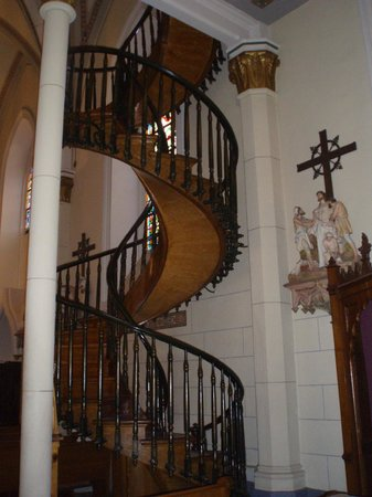 Inn and Spa at Loretto:                   Loretta staircase in chapel attached to hotel