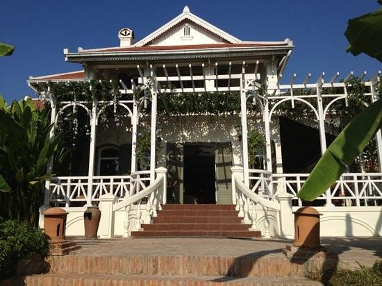 The Luang Say Residence:                   side porch
