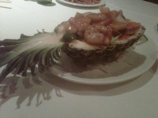 The Garden Cantonese Restaurant: Prawn & pineapple with chilli.