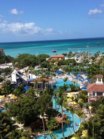 Marriott's Aruba Surf Club:                   View from our room