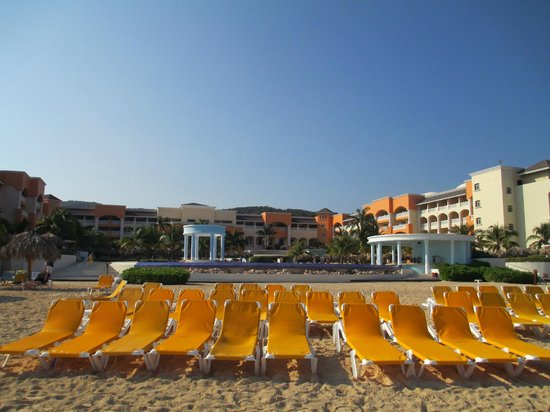 Iberostar Rose Hall Suites:                   View from the beach