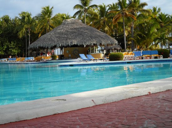 Catalonia Bavaro Beach, Casino & Golf Resort:                   Pool Bar - morning