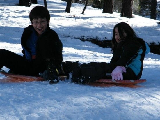 Big Bear Frontier:                   Kids have fun during the winter