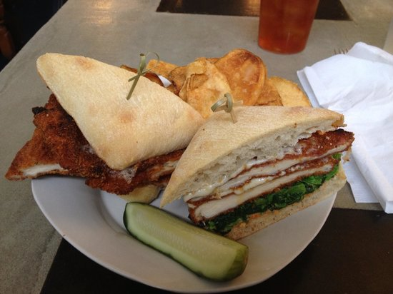 Canteen 900:                   Prosciutto wrapped fried chicken sandwich