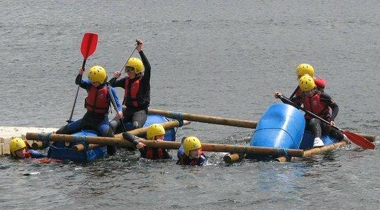 Active Adventure South West: Raft Building success