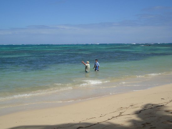 Little Corn Beach and Bungalow:                   Learning to Fly Fish