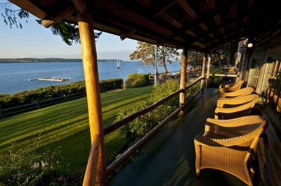 The Captain Whidbey Inn: Relax and enjoy the views of Penn Cove from our front porch!