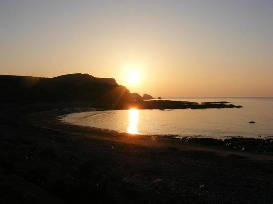 Mill of Nethermill Holidays:                   Walking on the beach - Sunset North East Scotland