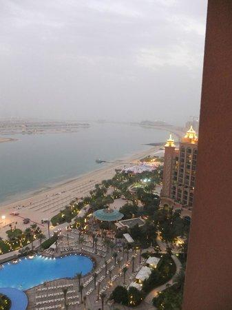 Atlantis, The Palm:                   vue sur les palmes en face de l'hotel