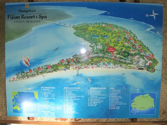 Shangri-La's Fijian Resort & Spa: Resort/Island Map