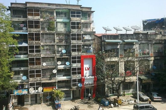 PARKROYAL Yangon:                   View from window. How fascinating.  :)