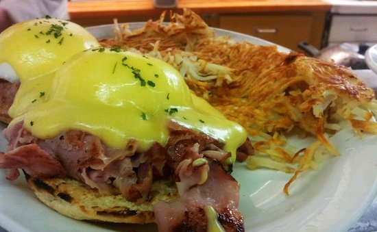 Ideal Cafe:                                                       Eggs Benny, also best in town