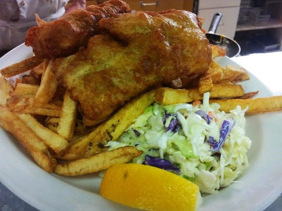 Ideal Cafe:                                                       fish and chips every Friday for lunch spec