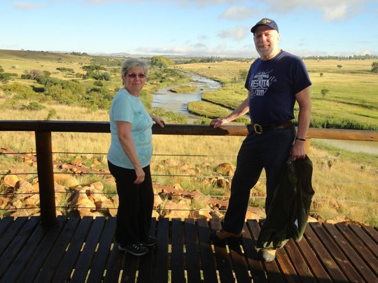 Rorke's Drift Hotel: Standing on the balcony of our room